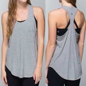 Lululemon Yogi Racerback Tank: Heathered Grey